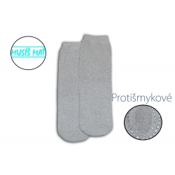 Bledo- sivé protišmykové dámske ponožky