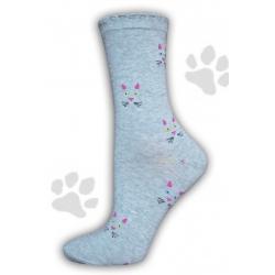 Mačičkové super dámske ponožky
