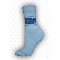 Dámske pekné vysoké bavlnené ponožky