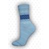 Jednoduché dámske vysoké bavlnené ponožky