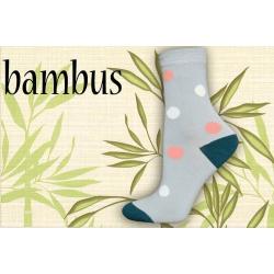IBA 35-38! Bodkované bambusové ponožky - sivé
