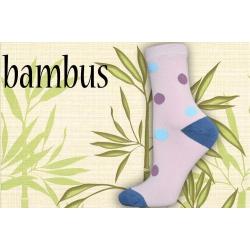 Bodkované bambusové  ponožky
