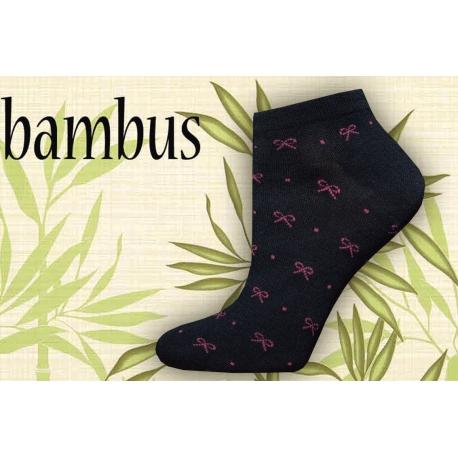 Bambusové kotníkové ponožky vzor mašlička