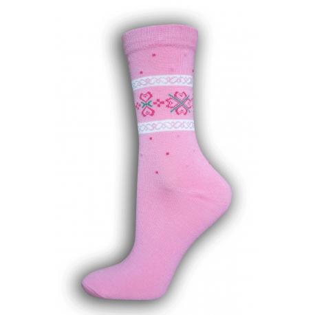 Lacné bavlnené dámske vysoké ponožky