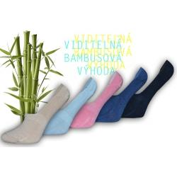 IBA 38-41! Výhodné balenie neviditeľných pohodlných bambusových ponožiek