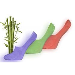 Krásne dámske bambusové neviditeľné ponožky vo výhodnom balení