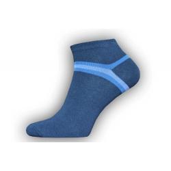 IBA 43-46! Tmavo-modré kotníkové pánske ponožky