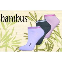 Dámske bambusové lacné ponožky v troj-balení