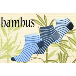 Lacné bambusové kotníkové ponožky vo výhodnom 3-balení
