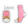 Krásne dámske vysoké bavlnené ponožky s chlpatým zvieratkom
