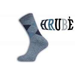 Kárované sivé termo ponožky