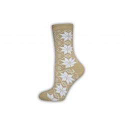 Dámske teplé ponožky s vločkami