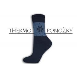 Lacné bambusové hrubé termo ponožky