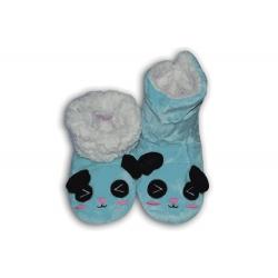 IBA 38-41! Modré vysoké papuče so zvieratkom