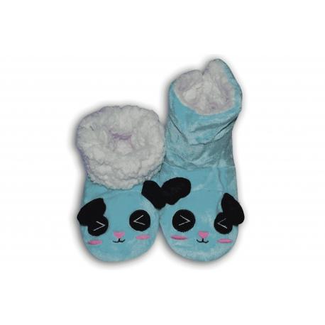 Papuče dámske s modrým zvieratkom