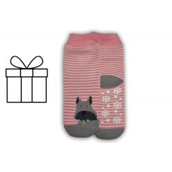 IBA 35-38! Pásikavé protišmykové teplé ponožky