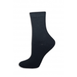 Čierne dámske bavlnené vysoké super ponožky