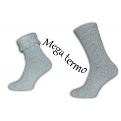 Mega teplé sivé pánske ponožky