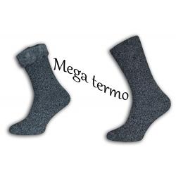Mega termo ponožky s extra dlhým vlasom
