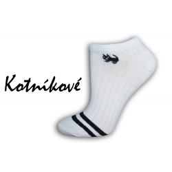 Bavlnené biele botaskové ponožky