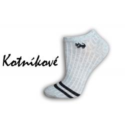 Luxusné sivé nízke ponožky s mačkou