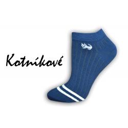 POSLEDNÝ KUS! 38-41 Luxusné modré ponožky s mačkou