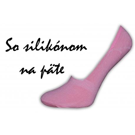 Jednofarebné dámske bavlnené neviditeľné ponožky do botasiek