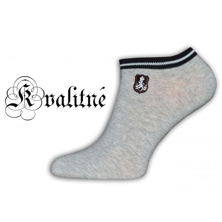 Pohodlné pánske sivé bavlnené členkové ponožky