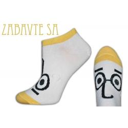IBA 38-41!Žlté krátke ponožky s očami