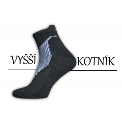 Pánske čierne ponožky s bielym vzorom