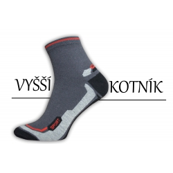 Športové pánske bavlnené stredne vysoké ponožky