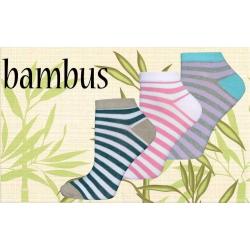 Lacné 3-balenie bambusových pásikavých ponožiek