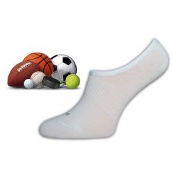 Biele neviditeľné ponožky na šport