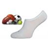 Novinka! Športové neviditeľné biele pánske ponožky