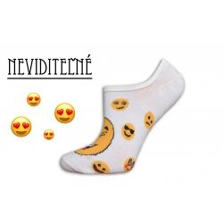 Smajlíkové neviditeľné dámske ponožky