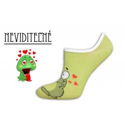 Žabkové neviditeľné dámske ponožky