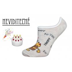 Narodeninové neviditeľné dámske ponožky