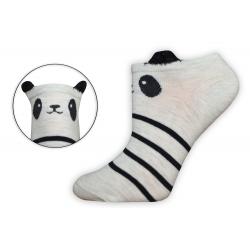 Nízke dámske ponožky s očkami
