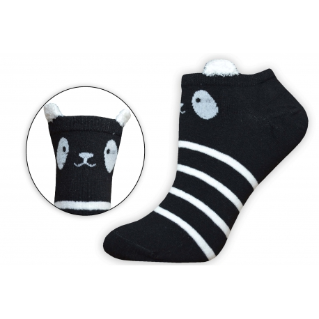 Veselé nízke dámske ponožky s očkami 185f4c1836