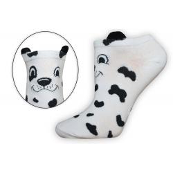 Biele extra nízke ponožky s uškami