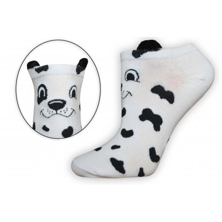 Veselé nízke dámske ponožky s očkami