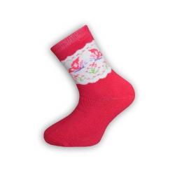 IBA 28-31! Dievčenské teplé malinové ponožky