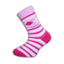 IBA 28-31! Ružové termo ponožky pre dievčatá