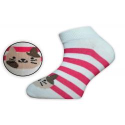Nízke pásikavé dievčenské ponožky