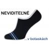 Módne pánske čierne neviditeľné ponožky do botasiek