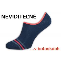 IBA 39-42! Čierne módne neviditeľné ponožky