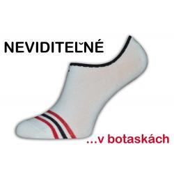 IBA 43-46! Biele moderné neviditeľné ponožky