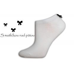 Luxusné  biele ponožky s mašličkou
