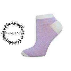 Iba 38-41. Jednofarebné dámske kotníkové ponožky