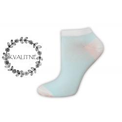 Iba 38-41. Jednofarebné belasé nízke ponožky